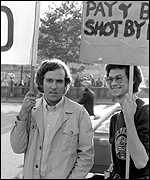 Peter Hain demonstrating against apartheid