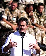 Tony Blair in Oman in 2001