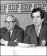 Roy Jenkins (left) and Mr Bill Rodgers