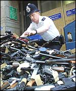 Police collecting guns