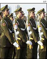Iraqi honour guard during Army Day celebrations