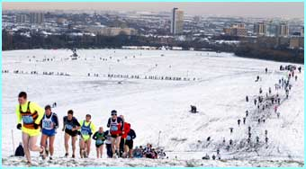 Snow didn't stop Newcastle's Great North Cross Country run