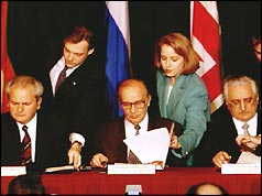 Peace agreement signing