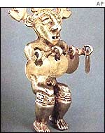 Gold figurine from the galleon Nuestra Senora de Atocha