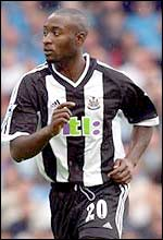 Necastle striker Lomana LuaLua
