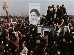Photograph of the crowds in Tehran