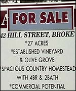 'For sale' sign
