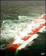 Tricolor submerged in the Channel