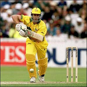 Australia's Michael Bevan sets off on a run