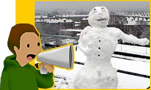 Here's a snowman we built at Newsround