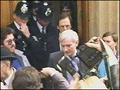 Harvey Proctor leaving court
