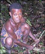 A Pygmy woman in neighbouring Central Africa Republic