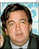 Bill Richardson shortly before leaving the UN in 1998