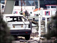Damage caused by the Docklands bomb