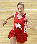 Olivia Murphy in action for ENgland
