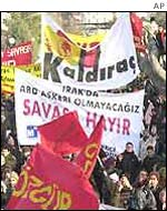 Anti-war demonstration in Turkey