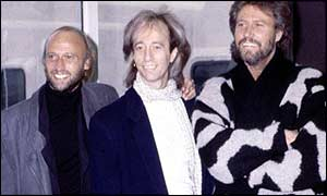 The Bee Gees at Heathrow in 1987