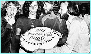 Maurice's non-famous younger brother, Andy, turns 21. Maurice wrote many of the groups hits