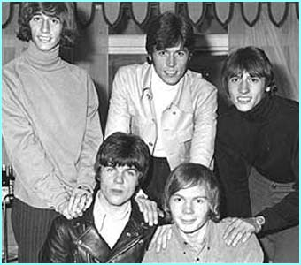1967, and the Bee Gees are a five piece, with band mates Vince and Colin in front