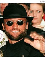 Maurice Gibb was in hospital for an operation on a twisted intestine.