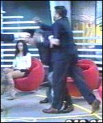 Brawl in Italian TV studio