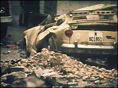 Remains of Admiral Blanco's car