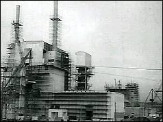 Atomic power station under construction