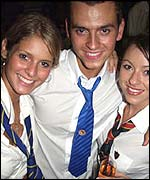 Party goers at an evening run by event firm SchoolDisco.com