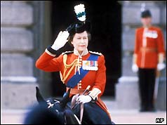 Queen Elizabeth II during the Trooping the Colour parade