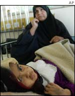 Iraq child in a children's hospital in Baghdad