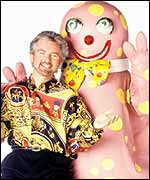 Noel Edmonds and Mr Blobby