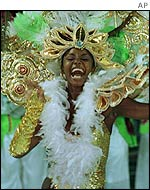 Woman dancer at Rio, Brazil carnival