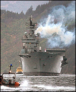 Ark Royal in Scotland on Monday