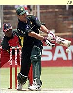 Inzamam-ul Haq in action