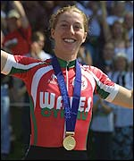 Cooke won the gold medal in the women's road race at the Commonwealth Games in Manchester
