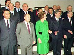 European leaders with Queen Beatrix of the Netherlands