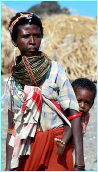 This mother and child are from the Elmorro Tribe in Kenya, East Africa