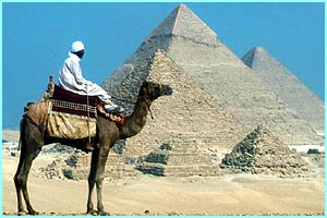 Welcome to Africa! An enormous continent where you'll find the amazing Egyptian pyramids