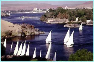The River Nile, which is the longest river in the world at a whopping 4,132 miles long!