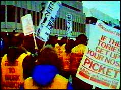 Right to Work protesters
