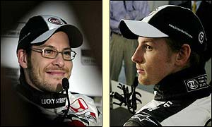 Jaques Villeneuve will be partnered at BAR by Jenson Button
