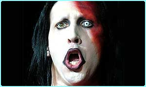 Marilyn Manson wears loads of make-up