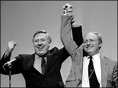 Roy Hattersley (left) and Neil Kinnock