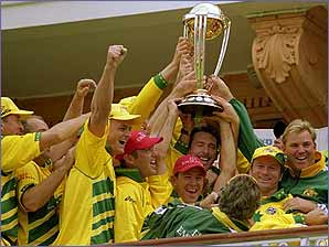 Australia celebrate winning the World Cup in 1999 - who's next?
