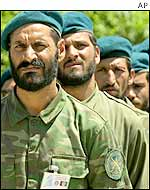 Afghan army troops