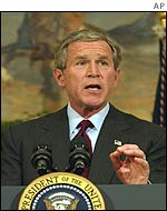 George W Bush makes his statement about affirmative action