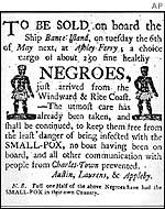 Ad for a slave auction