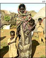 Somali woman with children