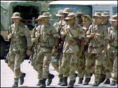 US Marines arrive in Saudi Arabia September 1990