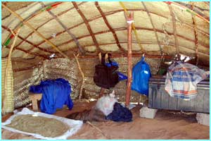 This is the tent where Houkai and her family live - it takes about a day to put up and only a few hours to dismantle